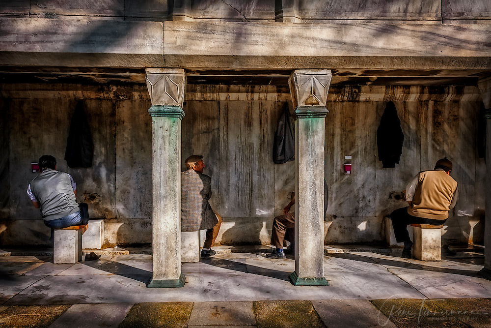 Washing ritual before praying