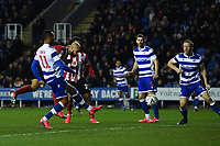 Football - 2019 / 2020 Emirates FA Cup - Fifth Round: Reading vs. Sheffield United<br /> <br /> Sheffield United's David McGoldrick scores the opening goal, at the Madejski Stadium.<br /> <br /> COLORSPORT/ASHLEY WESTERN