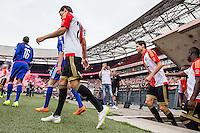 ROTTERDAM - Eerste training van Feyenoord , voetbal , seizoen 2015-2016 , Stadion De Kuip , 28-06-2015 , Speler van Feyenoord Marko Vejinovic komt voor het eerst als Feyenoorder de Kuip binnen bij de eerste training