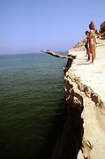 Alf Diving off a Rock,Portugal, 1980s.