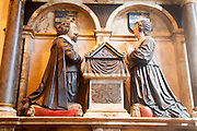 The Leman monument in Saint Stephen's church, Ipswich, Suffolk, England, UK commemorates Robert and Mary Leman who both died 3 September 1637