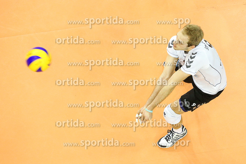 Andrej Stembergar Zupan of Calcit Volleyball during volleyball match between Hypo Tirol Innsbruck and Calcit Kamnik in Semifinal of MEVZA Cup Men - Final Four, on March 11, 2016 in Hala Tivoli, Ljubljana, Slovenia. Photo by Morgan Kristan / Sportida
