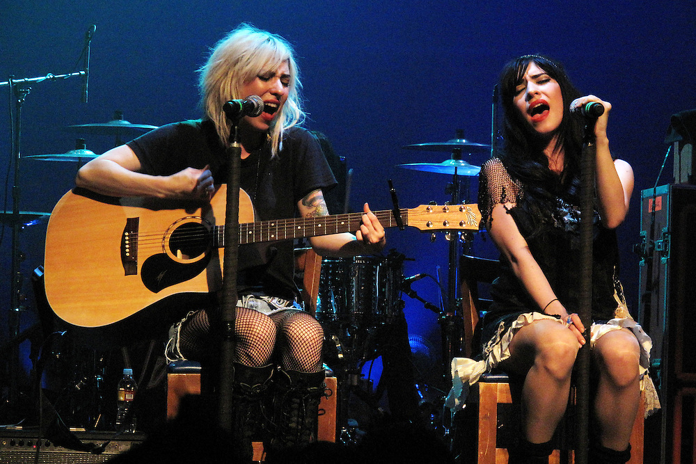 Australian sensation The Veronicas, with consists of twin sisters Jessica and Lisa Origliasso performs to a lively crowd at the Henry Fonda Theater in Hollywood, Calif., on Tuesday, June 23, 2009.