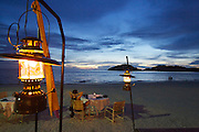 Malaysia, Langkawi. Meritus Pelangi Beach Resort & Spa. Sunset dinner at the beach.