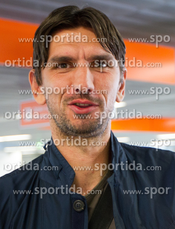 Tomislav Butina of Croatia  a day before the beginning of Euro 2012 Poland-Ukraine, on June 7, 2012 in Warsaw airport, Poland. (Photo by Vid Ponikvar / Sportida.com)