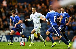 Nathan Redmond of England U21 attacks - Mandatory byline: Matt McNulty/JMP - 07966386802 - 03/09/2015 - FOOTBALL - Deepdale Stadium -Preston,England - England U21 v USA U23 - U21 International