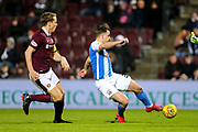 Eamonn Brophy (#25) of Kilmarnock scores Kilmarnock's first goal (0-1) during the Ladbrokes Scottish Premiership match between Heart of Midlothian and Kilmarnock at Tynecastle Stadium, Gorgie, Scotland on 27 February 2018. Picture by Craig Doyle.