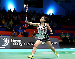 Mizuki Fuji of Bristol Jets hits a drop shot - Photo mandatory by-line: Robbie Stephenson/JMP - 07/11/2016 - BADMINTON - University of Derby - Derby, England - Team Derby v Bristol Jets - AJ Bell National Badminton League
