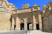 Victoria Gate nineteenth century city entrance gateway, Valletta, Malta built 1885