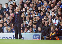 Football - 2016 / 2017 Premier League - Tottenham Hotspur vs. Arsenal<br /> <br /> Arsenal Manager Arsene Wenger unhappy with what he sees at White Hart Lane.<br /> <br /> COLORSPORT/ANDREW COWIE