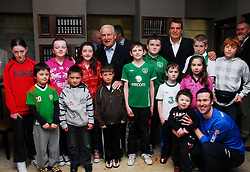 Republic of Ireland Manager Giovanni Trapattoni and his assistant Marco Tardelli meeting soccer fans during the Civic reception visit to Westport over the weekend...Pic Conor McKeown