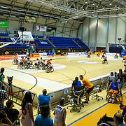 NLD/Rotterdam/20190706 - BN'ers spelen rolstoelbasketbal, overizcht zaal