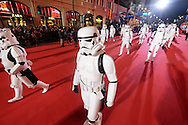 Characters from movie Star Wars move along Hollywood Boulevard during the 85th Annual Hollywood Christmas Parade in Los Angeles on Sunday December 27, 2016. (Photo by Ringo Chiu/PHOTOFORMULA.com)<br /> <br /> Usage Notes: This content is intended for editorial use only. For other uses, additional clearances may be required.
