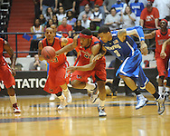 "Mississippi's Zach Graham (32) vs. Memphis' Roburt Sallie in NIT second round basketball action at the C.M. ""Tad"" Smith Coliseum in Oxford, Miss. on Friday, March 19, 2010. Ole Miss won 90-81."