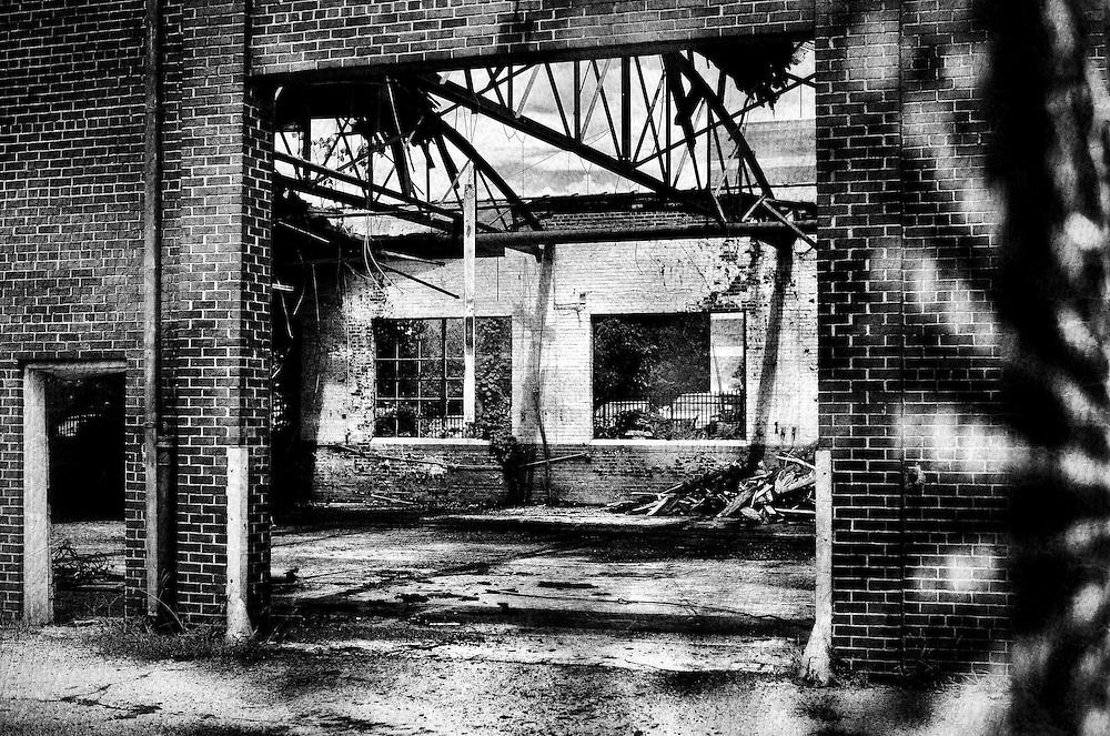 Demolished building in downtown Charlotte, North Carolina.