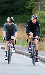 ©Licensed to London News Pictures 26/07/2020     <br /> Chislehurst, UK. Sunday cyclists. A bright sunny Sunday morning on Chislehurst common in Chislehurst, South East London Photo credit: Grant Falvey/LNP