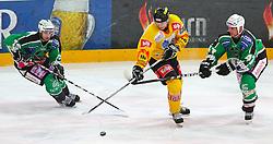 22.02.2011, Albert Schultz Halle, Wien, AUT, EBEL, Vienna Capitals vs Tilia Olimpija Ljubljana, im Bild Ziga Pance, (HDD TILIA Olimpija Ljubljana, #19), Daniel Nageler, (EC Vienna Capitals, #16) und Jeff Tory, (HDD TILIA Olimpija Ljubljana, #47) beim Kampf um den Puck,  EXPA Pictures © 2011, PhotoCredit: EXPA/ T. Haumer