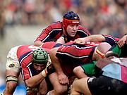 2004/05 Heineken_Cup, NEC,Harlequins vs Munster, RFU Twickenham,ENGLAND:.Munster's Anthony Foley, looks over the scrum..Photo  Peter Spurrier. .email images@intersport-images.com...