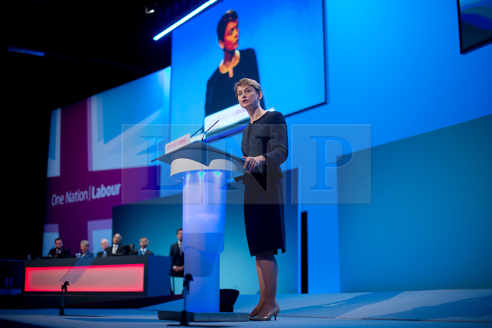 © London News Pictures. 25/09/2013 . Brighton, UK. Shadow Home Secretary, Yvette Cooper speaking on the last day of the  2013 Labour Party Conference at The Brighton Centre. Photo credit : Ben Cawthra/LNP