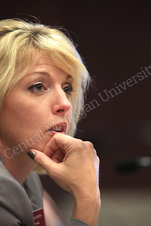 Board member Tricia A. Keith. CMU Board of Trustees meet in the University Center on Thursday September 19, 2013.