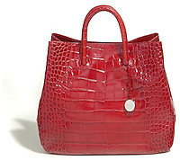furla read leather alligator purse
