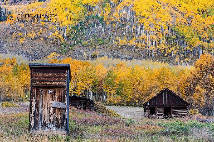 Ghost town of Ashcroft in autumn near Aspen, Colorado, USA