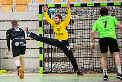 Aleksandar Tomic of MRK Krka during handball match between RK Gorenje Velenje and MRK Krka in Final of Slovenian Men Handball Cup 2018/19, on Maj 12, 2019 in Novo Mesto, Slovenia. Photo by Grega Valancic / Sportida