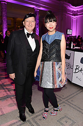STEPHEN JONES and SUSIE LAU at the WGSN Global Fashion Awards held at the V&A museum, London on 30th October 2013.