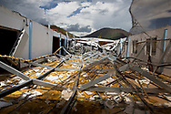 MAUNABO, PUERTO RICO - OCTOBER 9, 2017 -  The Iglesia de Dios Pentecostal on road PR-758 in Maunabo, Puerto Rico was completely destroyed after the center of Hurricane Maria passed over it .  (Photo/Jos&eacute; Jim&eacute;nez) Through the Iris of Hurricane Mar&iacute;a<br />