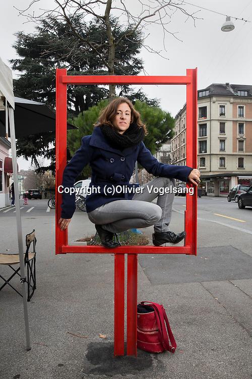 Lausanne, 5 décembre 2106. Florence Savioz, médiatrice culturelle chez La Marmite, Animatrice-théâtre. La marmite est un projet d'action artistique culturelle et cytoyenne. © Olivier Vogelsang