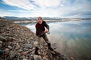 Fly fishing on Lake Koocanusa, Montana