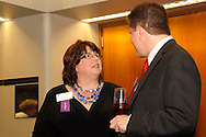 Sheri Sword of the Better Business Bureau (left) during the Better Business Bureau's Eclipse Integrity Awards dinner at the Ponitz Center at Sinclair Community College in downtown Dayton, Tuesday, May 8, 2012.