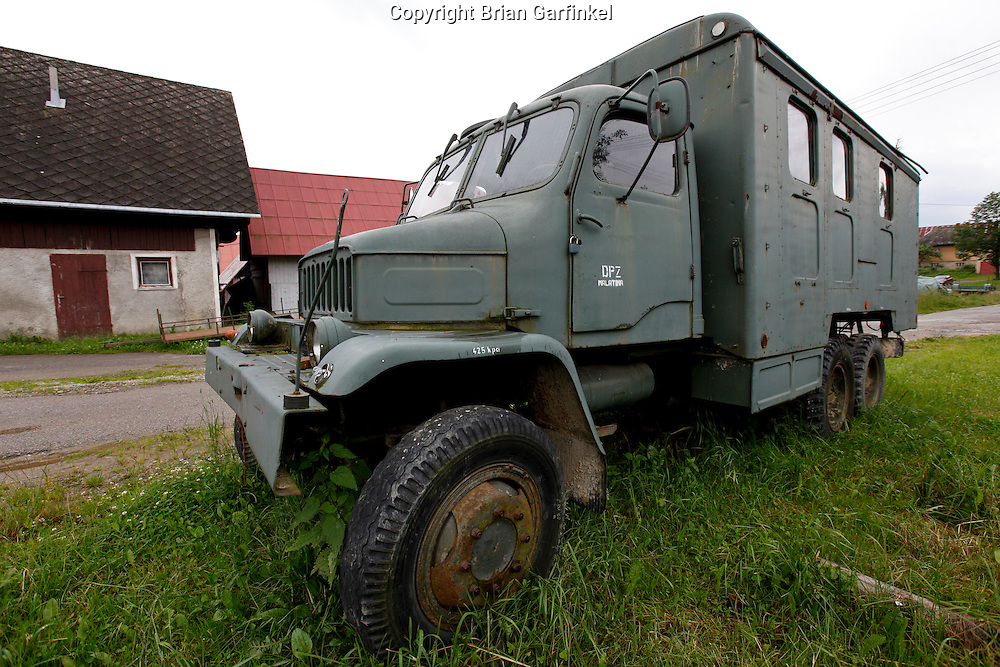 An old truck in Malatina, Slovakia on Wednesday July 6th 2011.  (Photo by Brian Garfinkel)