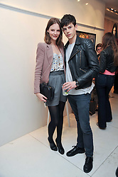 SARA BLOMQVIST and JEREMY YOUNG at the Mother of Pearl Launch at The Other Criteria, 36 New Bond Street, London W1 on 12th April 2011.