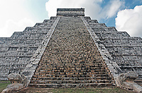 Kukulkan Pyramid  of Chichen Itza yucatan was a Maya  archaeological sites Mexico