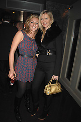 Left to right, NATASHA CORRETT and AMANDA WAKELEY at a party hosted by Kitts nightclub in honour of Ed Godrich to than him for his work on designing the club in Sloane Square, London on 1st March 2007.<br />