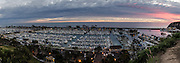 Dana Point Harbor at Dusk Panorama