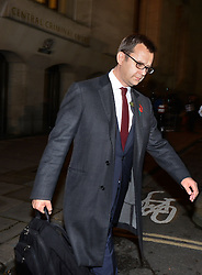 © Licensed to London News Pictures.31/10/2013. London, UK. Andy Coulson, Former Downing Street communications director and News of the World editor leaves Old Bailey court on October 31, 2013 in London where he faces charges relating to phone hacking scandal. Photo credit : Peter Kollanyi/LNP
