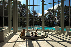 """SPA, BELGIUM - AUGUST-17-2005 -  Health and beauty spas the world over, take their name from the original spa in Spa, Belgium where visitors have been coming for hundreds of years to """" take the waters """" at Les Thermes de Spa  . (Photo © Jock Fistick)"""