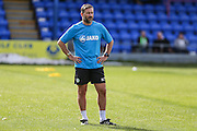 Forest Green Rovers assistant manager, Scott Lindsey during the Vanarama National League match between Braintree Town and Forest Green Rovers at the Amlin Stadium, Braintree, United Kingdom on 24 September 2016. Photo by Shane Healey.