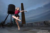 New York City Rooftop Ballerina Melanie Olinsky- Dance As Art- The New York Photography Project