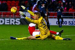 Anssi Jaakkola of Reading makes a save at full stretch - Mandatory by-line: Ryan Crockett/JMP - 15/12/2018 - FOOTBALL - Aesseal New York Stadium - Rotherham, England - Rotherham United v Reading - Sky Bet Championship