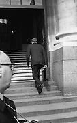 George Colley TD Minister for Finance..Budget Day..1972..19.04.1972..04.19.1972..19th April 1972..Pictured.The Minister for Finance, Mr George Colley, is seen entering Dail Eireann, Leinster House,Dublin, where he will deliver his budget Speech.