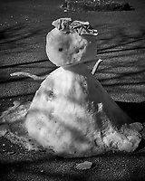 Snowman at the base of Mt Komagatake. Fuji Hakone Izy National Park. Image taken with a  Fuji X-T1 camera and 35 mm f/1.4 lens.