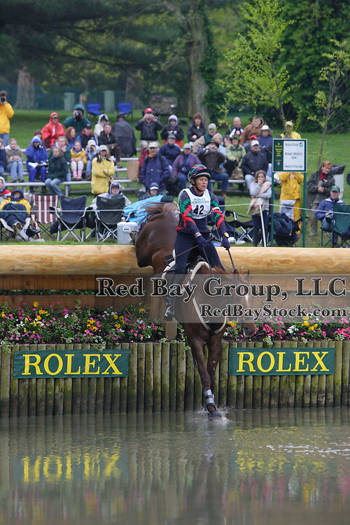 Lesley Grant (CAN) and Timber Spirit at the 2005 Rolex Kentucky Three-Day Event.
