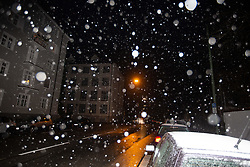 November 18, 2018 - Munich, Bavaria, Germany - First Snowfall in the Bavarian capital Munich, Germany, on 18 November 2018. (Credit Image: © Alexander Pohl/NurPhoto via ZUMA Press)