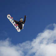 Dimi De Jong, The Netherlands, in action during the Men's Half Pipe Qualification in the LG Snowboard FIS World Cup, during the Winter Games at Cardrona, Wanaka, New Zealand, 27th August 2011. Photo Tim Clayton..