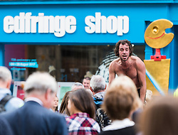 Street Performers take the streets to promote shows as part of the Edinburgh Fringe Festival