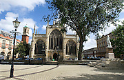 27 August 2014 Images of Kingston Upon Hull, East Yorkshire.<br /> Trinty Church and square with the market on the left.<br /> Picture: Sean Spencer/Hull News & Pictures Ltd<br /> 01482 772651/07976 433960<br /> www.hullnews.co.uk   sean@hullnews.co.uk