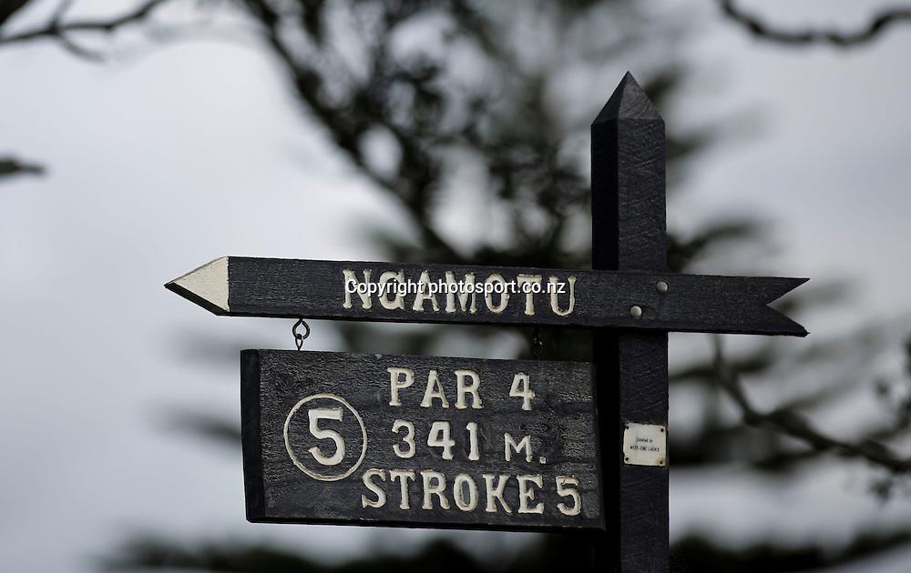 Day two of the Taranaki Energy Open, New Plymouth Golf Club, New Zealand. Thursday 11 April 2013. Photo: John Cowpland / photosport.co.nz
